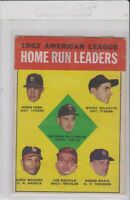 1963 Topps Baseball American League Home Run Leaders Roger Maris Killebrew #4