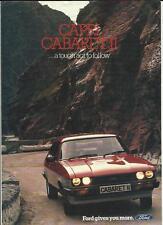 FORD CAPRI CABARET II 1.6 AND 2.0 SALES BROCHURE MID 80's
