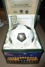 SOCCEROOS FIFA 2006 WORLD CUP COMMEMORATIVE CERAMIC FOOTBALL BALL - COA - LTD ED