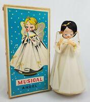 Vintage Christmas Rotating Musical Angel Plays Silent Night in Original Box