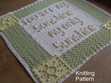 KNITTING PATTERN Baby Blanket - You are my Sunshine Bobble - Plain & Intarsia