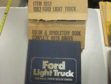 1982 Ford Light Truck Color & Trim Selections F-Series Bronco Econoline Courier