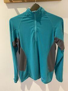 Rab Aeon Plus 1/4 zip ladies top Turquoise Uk 16 Walking Hiking Gym