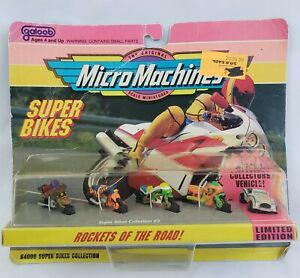 *NEW* LIMITED EDITION MicroMachines Super Bike Collection #2 Rockets Of The Road