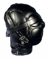 Heavy Duty PU Leather Padded Lockable Hood Mask Halloween 11 H