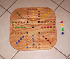 "18 "" WOOD OAK AGGRAVATION MARBLE GAME BOARD 2-4 PLAYER NEW"