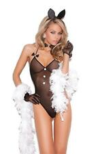 Bunni Love Lingerie Costume Set Mesh Teddy Rabbit Ears Bowtie Bunny Tail 8658