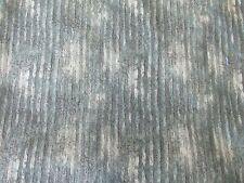 "Green Striped Cotton Quilt Print Fabric - 35""(L)"