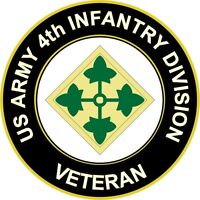 "Army 4th Infantry Division Veteran 5.5"" Sticker 'Officially Licensed'"