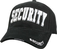 Black Deluxe Security Low Profile Baseball Hat Cap