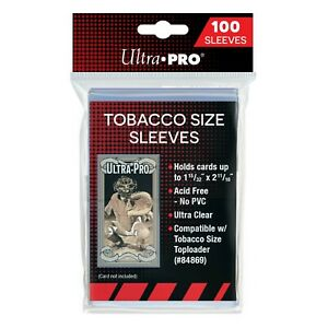 """1-15/32"""" x 2-11/16"""" Tobacco Sized Card Sleeves Ultra PRO Brand Pack of 100"""