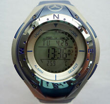 Mercedes Benz Electronic Digital Compass Stopwatch LCD Sport Chronograph Watch