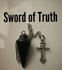 Code 247 Sword of Truth Blue sunstone Infused n charged Pendulum Reading Psychic