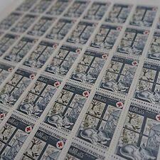 FEUILLE SHEET TIMBRE CROIX ROUGE RED CROSS N°1829 x50 1974 NEUF ** LUXE MNH