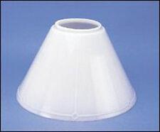 "Aladdin Mantle Lamp Company Opal White Slant Glass Lamp Shade 14"" #N716"