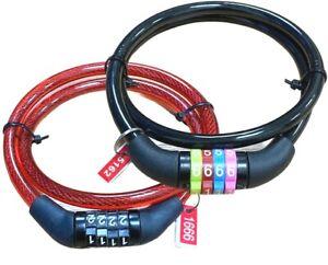Bicycle Bike Cycle Lock 4 Digit 650MM STEEL Dial Code combination Security Lock