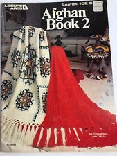 Leisure Arts Afghan Book 2 ~10 Crochet & 6 Knitted patterns - knitting knit