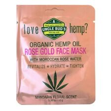 UNCLE BUD'S ROSE GOLD FACE MASK 10G WITH MOROCCAN ROSE WATER UNCLE BUDS