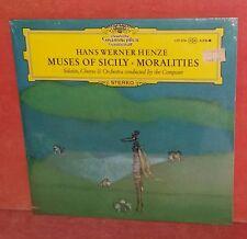 HANS WERNER HENZE-Muses Of Sicily-Moralities DGG LP 139 374  slpm tulips SEALED