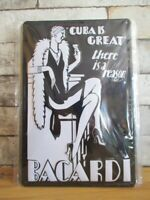 Bacardi Cuba Blechschild Nostalgie Schild 30 cm Spirituose