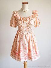 LIZ LISA Luxurious Fairy tale Floral White OP Dress Hime Lolita Kawaii 109 Japan