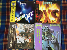 NAZARETH  - 4 ALBUMS (4 LPs) LOT - MADE IN JAPAN ALL NM Wax!!! Vinyl OBI