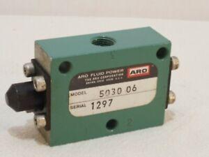 Model 5030 06 1/8 NPT Manuel Mechanical Valve Aro Fluid Power