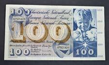 Switzerland 100 Swiss Franc Banknote 5th Series 1970 #67S21426