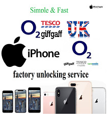 O2 & Tesco Unlock Service UK Factory Unlocking Apple iPhone & iPad supported