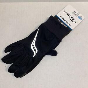 Saucony Nomad Running Gloves, Black, Unisex Large SA90479-BK NWT
