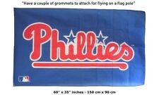 Big NEW Philadelphia Phillies MLB BASEBALL FLAG BANNER 3x5 FEET OFFICIAL LOGO