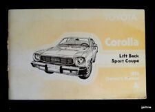 TOYOTA COROLLA 1976 LIFT BACK SPORT COUPE CAR MANUAL