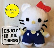 Hello Kitty, knitted soft toy, children's tv character, birthday, Christmas gift