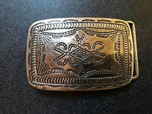 Rare,Navajo,Tribal,Viking,Celtic,Western,Cowboy belt buckle.Antique nickel.