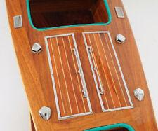 """Chris Craft Triple Cockpit Speed Boat Wooden Model 32"""" Handcrafted Varnished"""