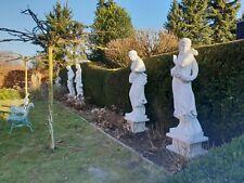 Vier Jahreszeiten aus feinem Marmor, Gartenskulptur, Marmorstatue,Frauenstatue