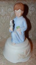 Little Boy First Communion Music Box Figurine Roman Inc