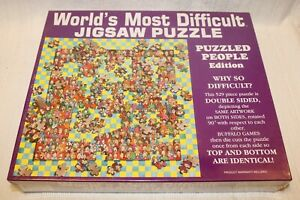 1994 Worlds Most Difficult Jigsaw Puzzle, PUZZLED PEOPLE Edition, 529 Pieces New