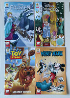 Lot of 4 Disney Comics Issue 1 Frozen, Mickey Mouse, Princess, Toy Story