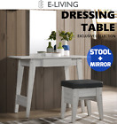 SVEN Dressing Table Mirror Stool Vanity Makeup Desk Jewellery Organizer - Oak
