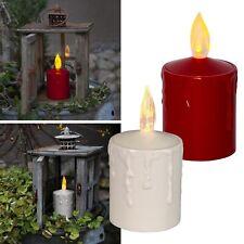 LED Kerze für Außen Dämmerungssensor Lichtsensor flackernd Garten Outdoor