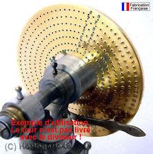 Plateau diviseur spécial horlogerie tour Lorch Boley mecanique fraisage horloger
