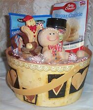 Gingerbread Cookie Gift Basket Candy Cane Hot Chocolate Candy cookie cutter