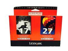 New Genuine Lexmark 17 27 Ink Cartridges X Series X2250 X2230 Z Series Z515 Z601