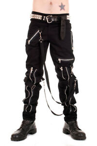 Punk Heavy Duty Zip Pants made in the UK by Tiger of London