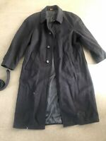 Brooks Brothers Navy Blue Long Wool Overcoat Size Medium