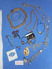 Vintage Costume Jewelry: Liz Claiborne, Blue Rhinestones, More 12p Lot JH59