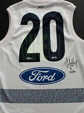 Geelong Steve Johnson Signed 150th Anniversary Guernsey - REDUCED!