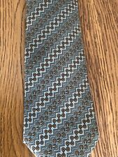 Hermes Green Gold Silk Tie Made In France Salvatore Ferragamo