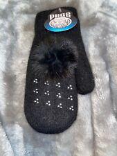Pugs Girls Mittens - Black